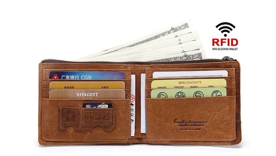 ad3746f612 Kožená peňaženka RFID